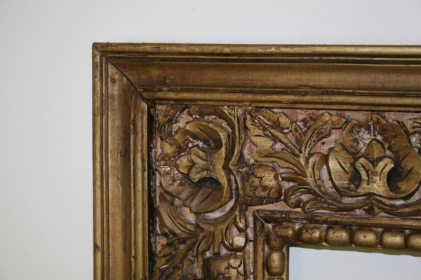 Large Antique Style Carved Ornate Vintage Gilt Wood Mirror Frame (4ft x 5ft)