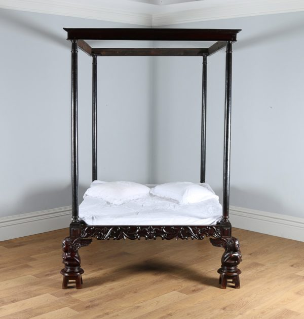 Antique 5ft King Size Colonial Raj Four Poster Day Bed (Circa 1800)