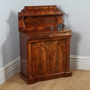 Antique William IV Flame Mahogany Two Door Chiffonier (c.1835)