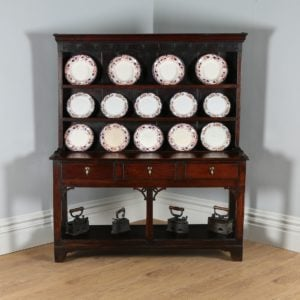Antique George II Carmarthenshire Welsh Dresser Base & Rack (Circa 1750)
