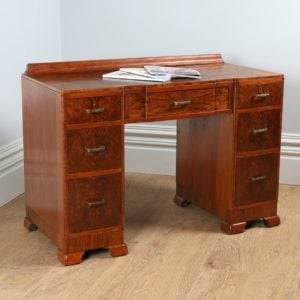 Antique Art Deco Burr Walnut Desk (Circa 1935)