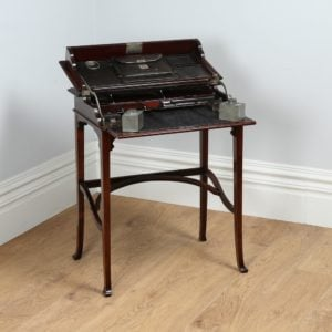 Antique Edwardian Art Nouveau Metamorphic Mahogany & Leather Writing Table (Circa 1900)