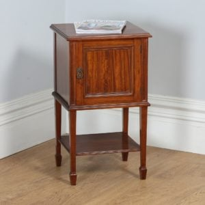 Single Edwardian Satinwood Howard & Sons Bedside Cabinet (Circa 1901 - 1910)