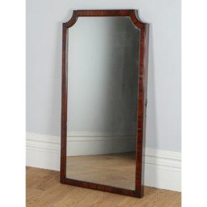 Antique Victorian Mahogany Wall / Floor Standing / Cheval Rectangular Mirror (Circa 1860)