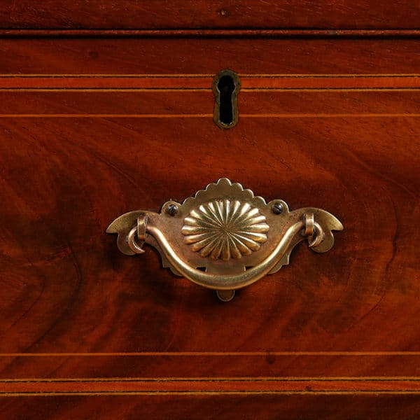 Antique William IV Scottish Flame Mahogany Linen Press (Circa 1835)