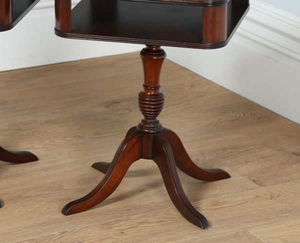 Antique Pair of Regency Style Mahogany Bedside Tables (Circa 1950)