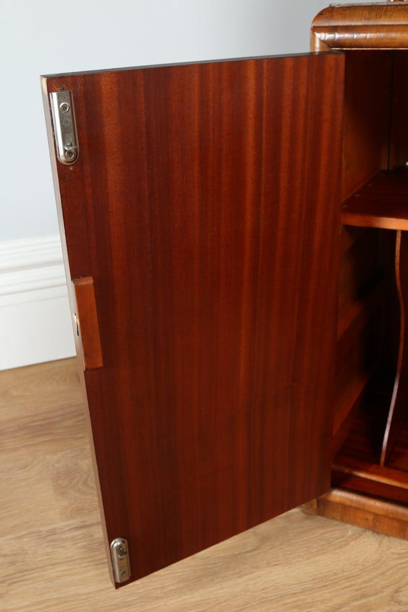 Antique Art Deco Figured Walnut Office Writing Bureau