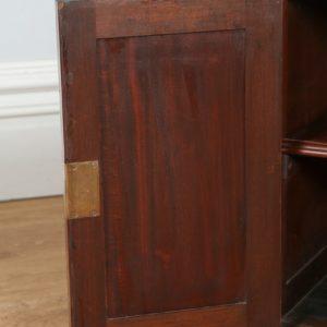 "Antique Edwardian 4ft 3"" Mahogany & Green Leather Partners Desk (Circa 1890 - 1910)"