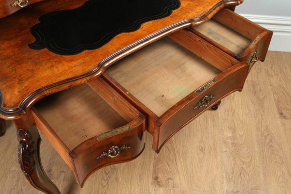 Antique Louis XV Revival French Walnut & Leather Bonheur Du Jour Desk (Circa 1870)