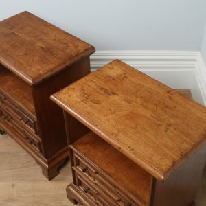 Pair of Italian Walnut Bedside Cabinets (Circa 1970)