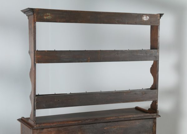 Antique Georgian Style Welsh Oak Joined High Potboard Dresser Base & Rack (Circa 1870)