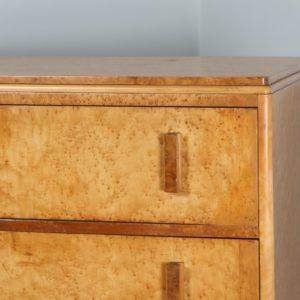 Antique Art Deco Birds Eye Maple Chest of Drawers (Circa 1930)