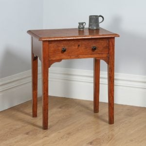 Antique Victorian English Pitch Pine Side / Hall Occasional Table (Circa 1860)
