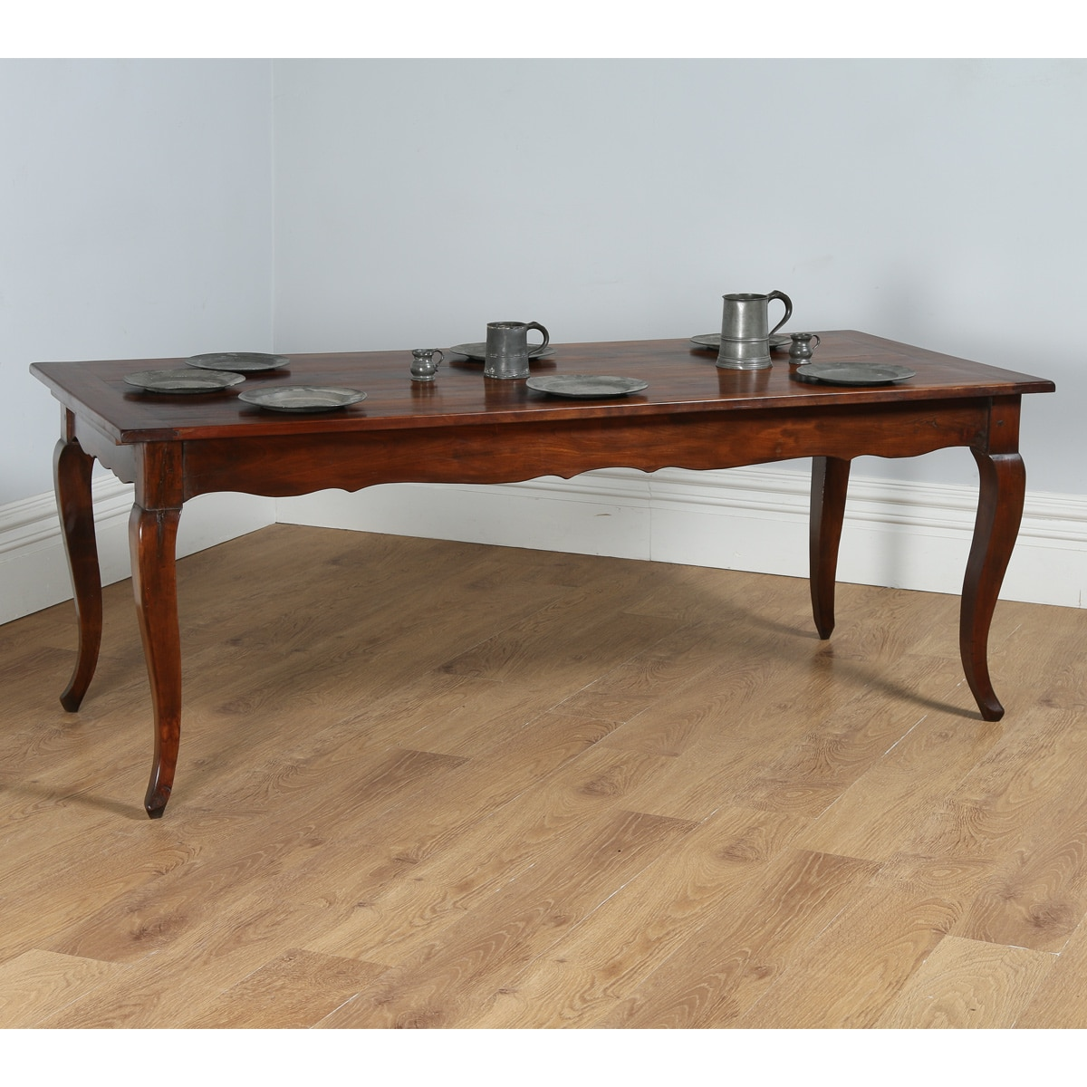 antique french 6ft 6 cherry wood refectory kitchen table with