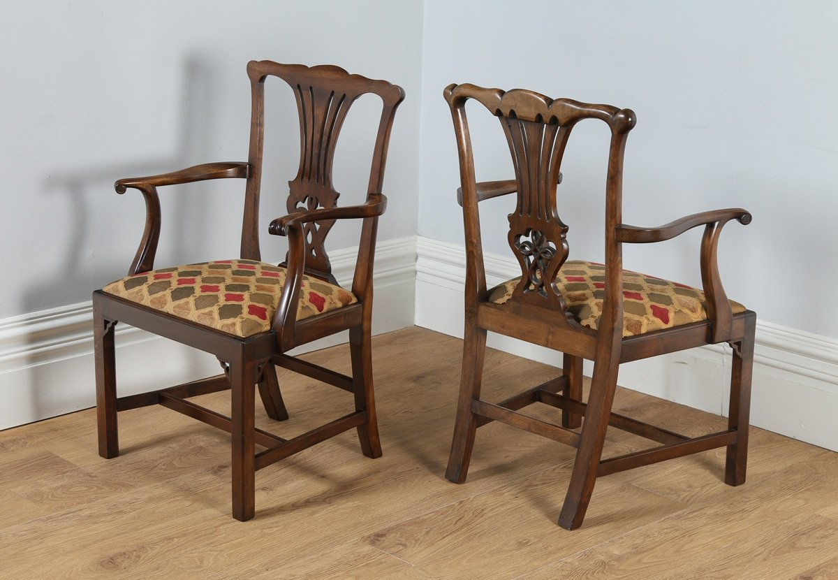 Antique set of 12 georgian chippendale style mahogany for Furniture kelsall