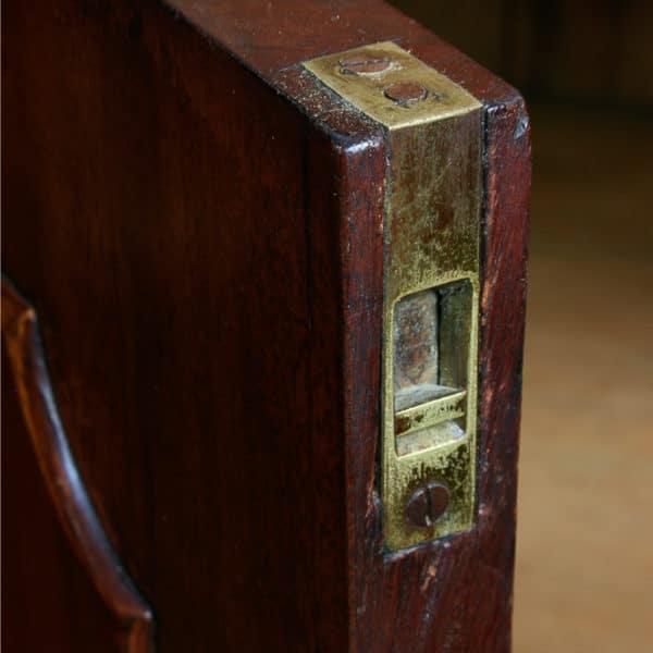 Antique Victorian Mahogany Mirrored Four Door Breakfront