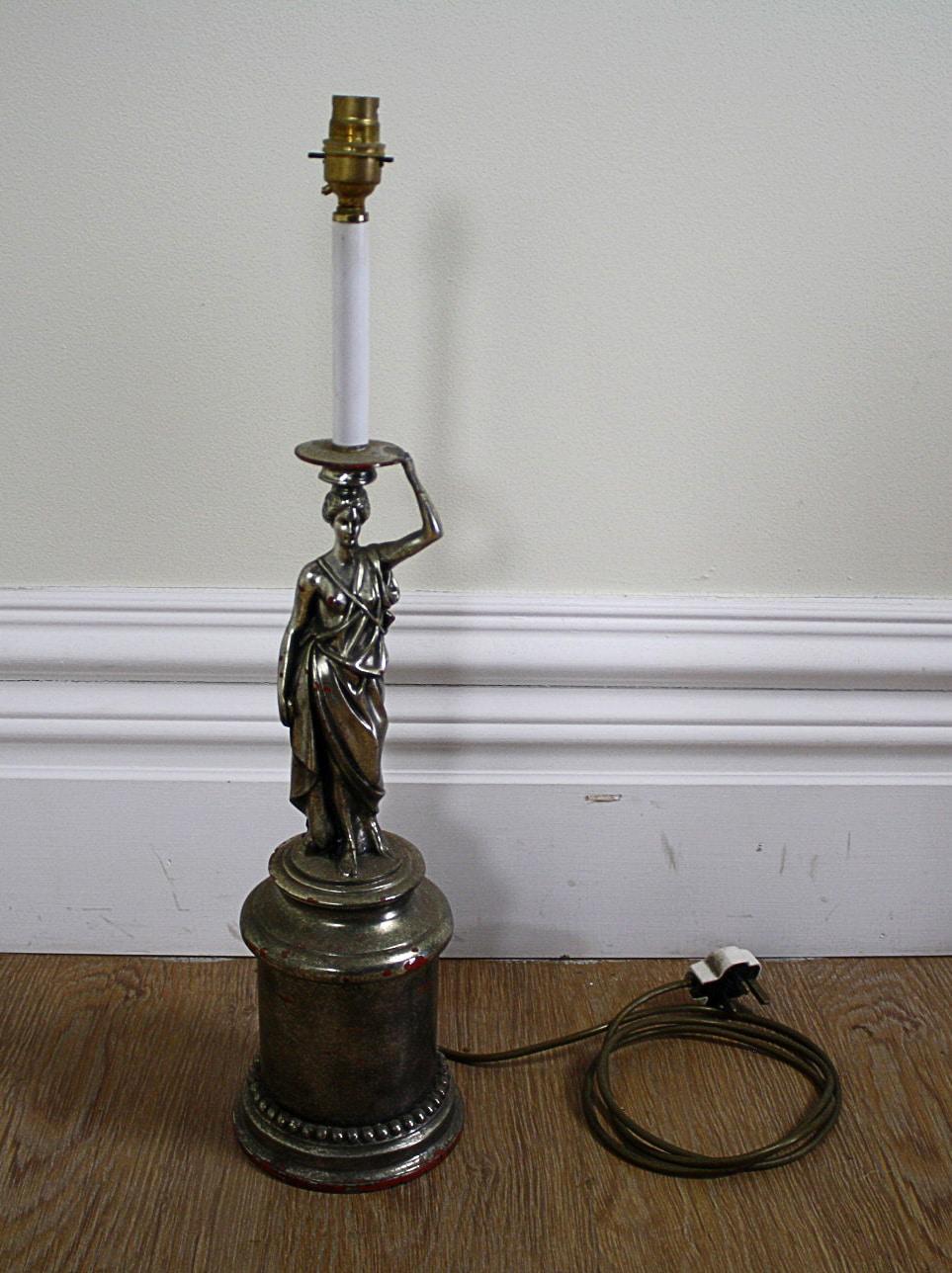 Antique English Art Deco Electrical Table Lamp Circa 1930