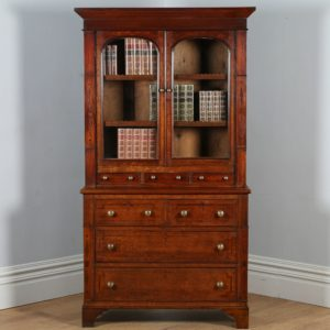 Antique Welsh Georgian Oak & Mahogany Housekeepers Cupboard (Circa 1810)