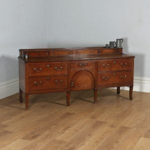 Antique English Georgian Oak Shropshire / Staffordshire Joined Low Dresser Base Sideboard (Circa 1810)- yolagray.com