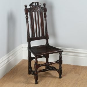 Antique Charles II Revival Walnut Side Chair (Circa 1880)