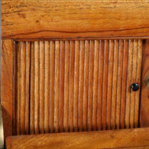 Antique Victorian Colonial Camphor Wood & Brass Rolltop Writing Box (Circa 1850)