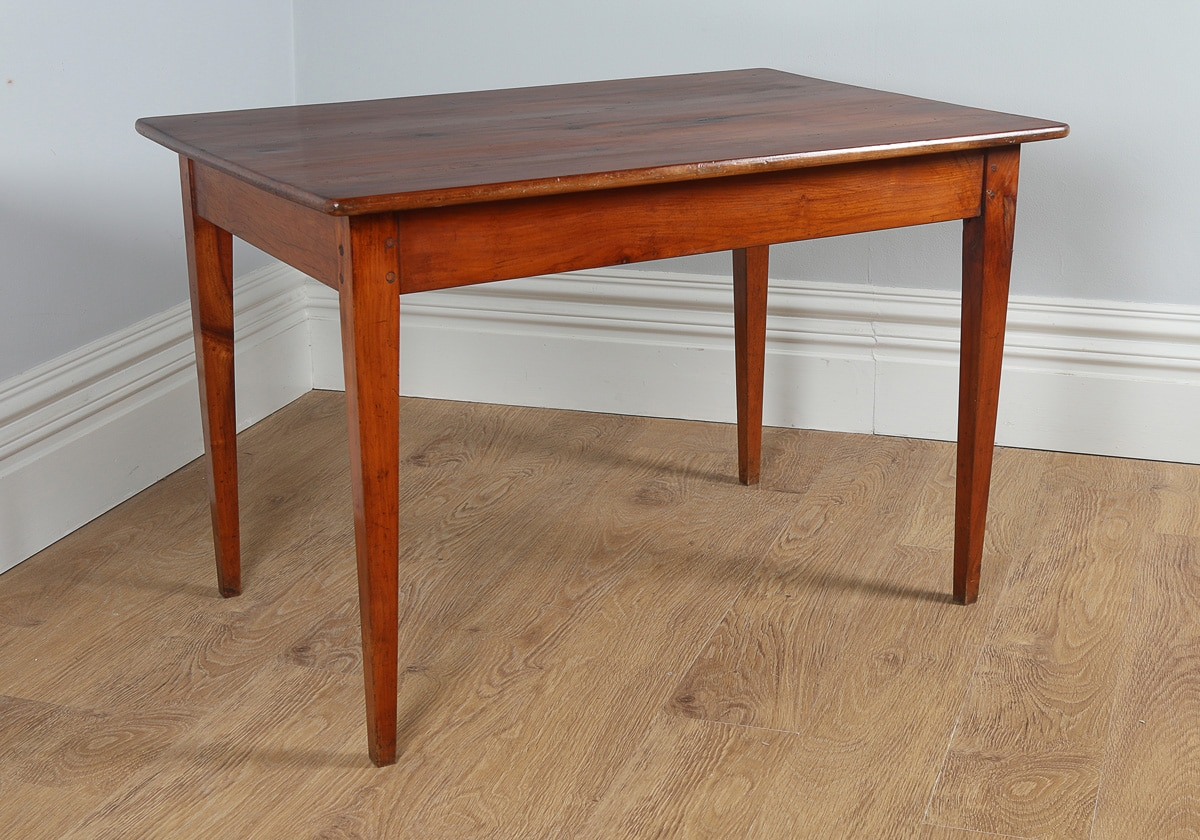 Antique French Cherry Wood Provincial Side / Small Refectory Table (Circa  1850)