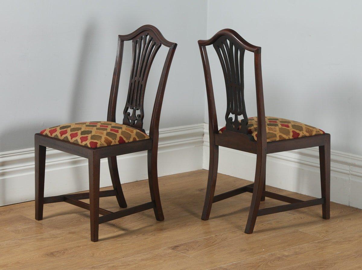 antique set of 12 english georgian hepplewhite style mahogany dining chairs circa 1920 yola. Black Bedroom Furniture Sets. Home Design Ideas
