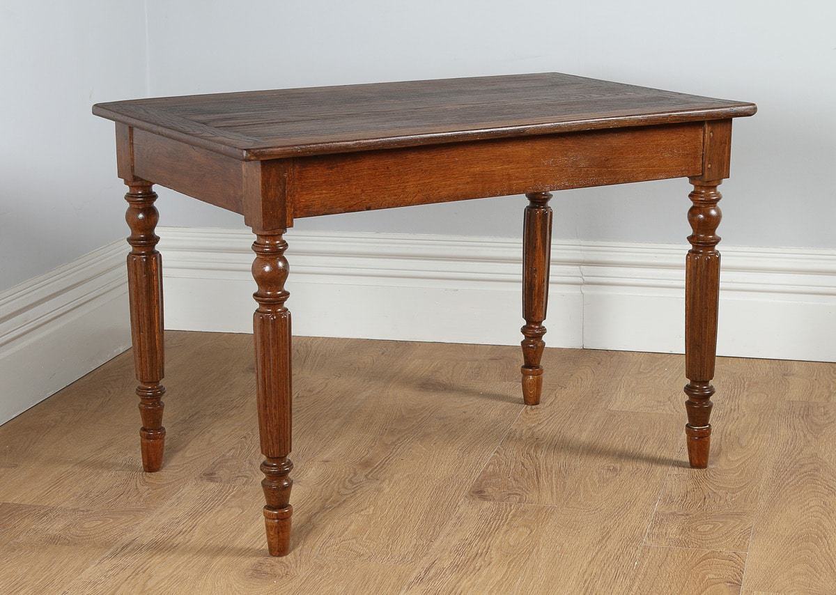 Antique French Chestnut Provincial Side / Small Refectory Table (Circa 1840)