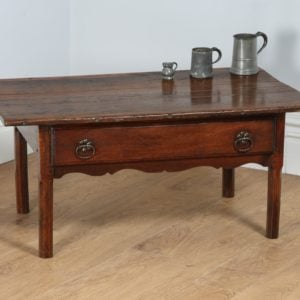 Antique French Provincial Country Chestnut Coffee Table (Circa 1780)