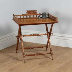 Antique Edwardian Oak Butlers Tray & Stand (Circa 1900)