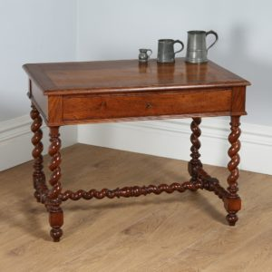 Antique French Oak Provincial Side Table (Circa 1880)