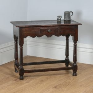 Antique Georgian 18th Century Style English Country Oak Side Table (Circa 1860)