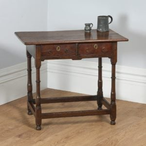 Antique Georgian 18th Century English Country Oak Side Table (Circa 1720)