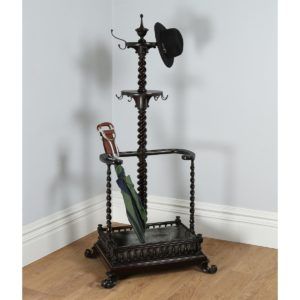 Antique Victorian Anglo Indian Colonial Mahogany Hallstand (Circa 1880)