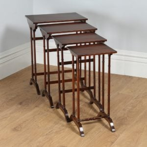 Edwardian Quartetto Mahogany Nest of Tables (Circa 1900)
