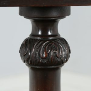 Antique Georgian Chippendale Style English Mahogany Tilt Top Tripod Table (Circa 1910)