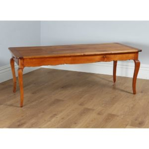 "Antique French 6ft 6¾"" Cherry Wood Refectory Table With Breadboards (Circa 1860)"