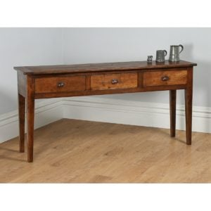 French Provincial Chestnut Low Dresser Base / Sideboard (Circa 1970)