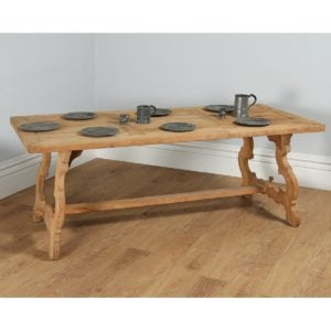 Antique French / Spanish Basque Farmhouse Bleached Oak Refectory Table (Circa 1900)