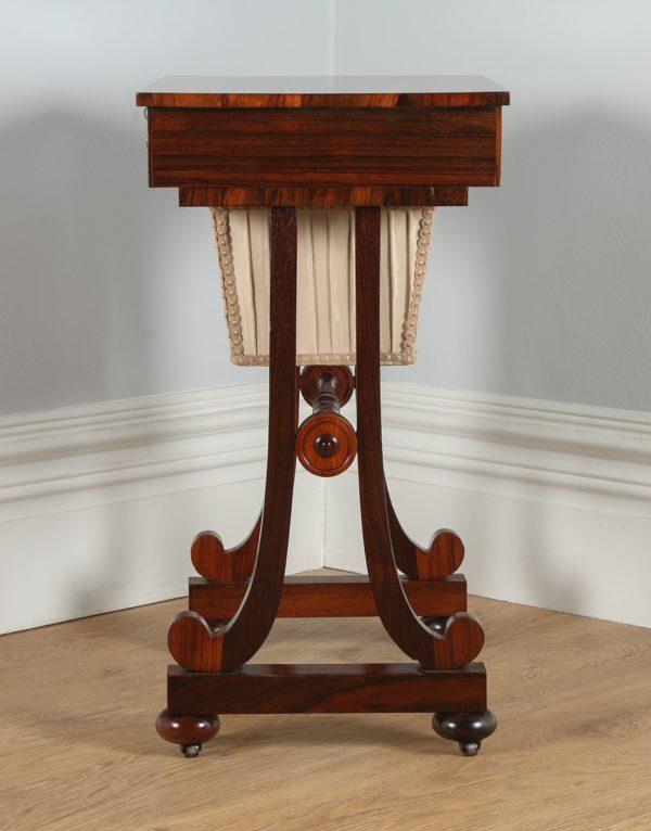 Antique Regency Rosewood Ladies Sewing Worktable (Circa 1820)