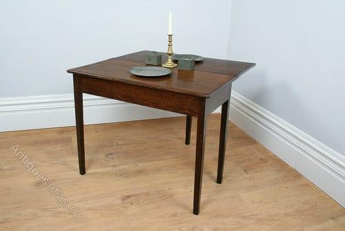 george iii oak fold over tea table circa 1780 yola gray antiques