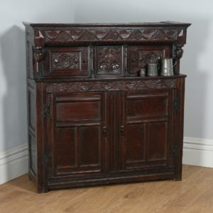 Antique Charles II Lancashire Oak Court / Press / Housekeepers Cupboard (Circa 1680) - yolagray.com