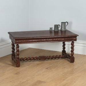 Antique French Carved Oak Rectangular Coffee Table (Circa 1860) - yolagray.com