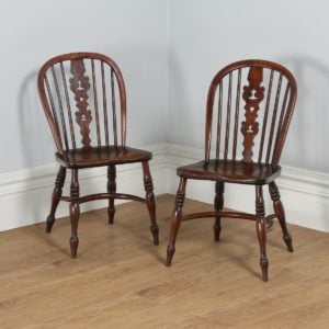 Antique Pair of Thames Valley / Windsor Yew & Elm Occasional Kitchen Chairs (Circa 1800) - yolagray.com