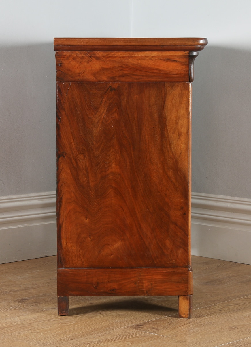 Antique French Louis Philippe Flame Mahogany Walnut Chest of