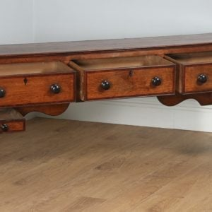 Antique George III Oak Border Counties / Welsh Joined Low Dresser Base (Circa 1800) - yolagray.com
