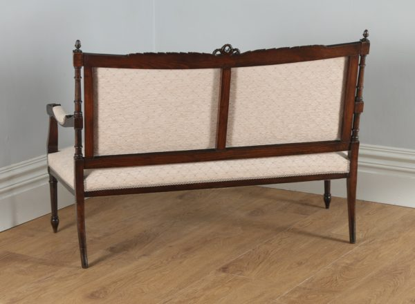 Antique French Louis XVI Style Beech Salon Couch (Circa 1880) - yolagray.com