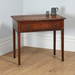 Antique English George IV Country Oak & Ebony Side Table (Circa 1820) - yolagray.com