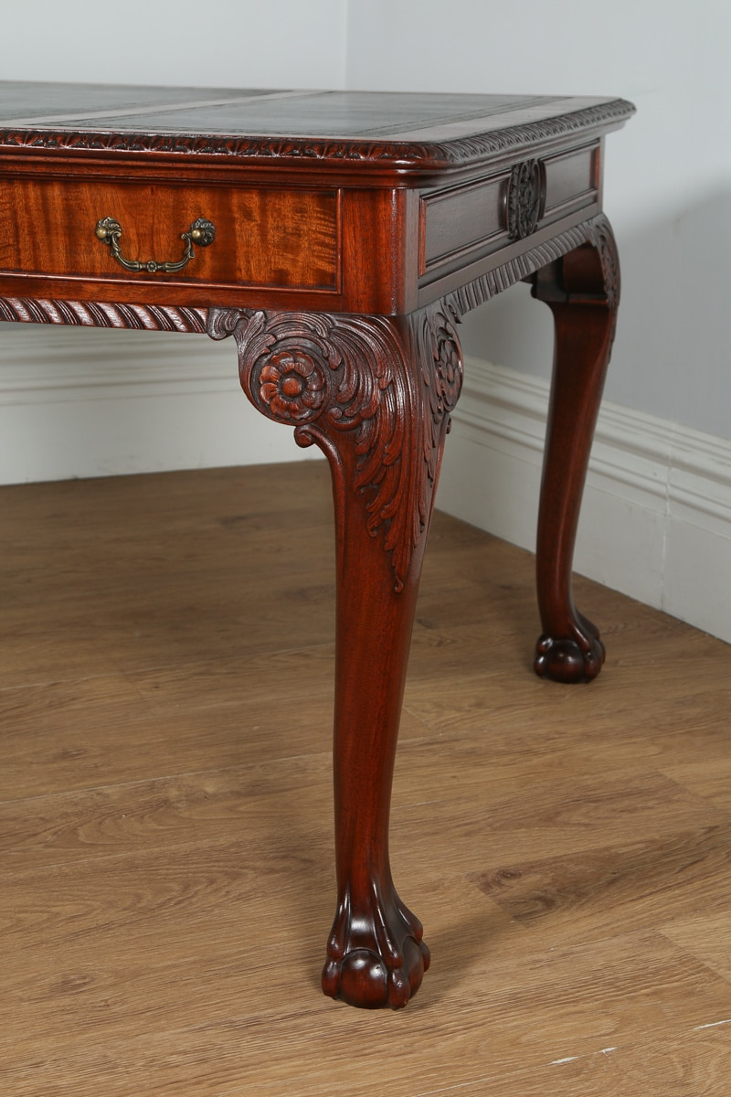 Antique English Georgian Chippendale Style 5ft Mahogany
