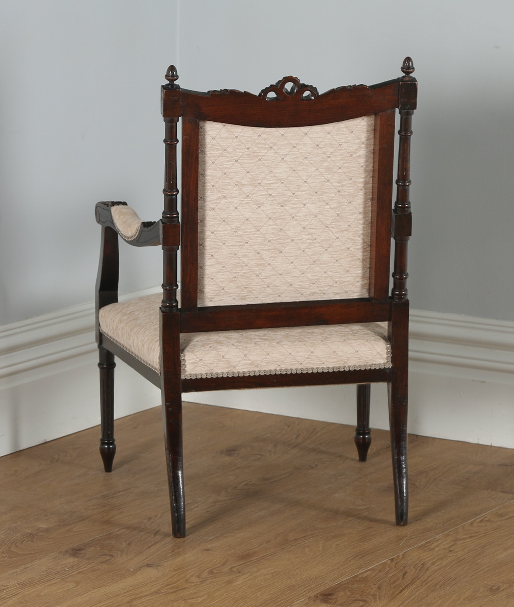 Antique French Armchair: Antique French Louis XVI Style Beech Salon Occasional